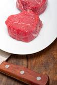 Raw beef filet mignon — Stock Photo