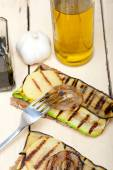 Grilled vegetables on bread — Stock Photo