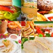 Burgers and sandwiches collection on a collage — Stock Photo #58730921