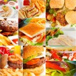 Burgers and sandwiches collection on a collage — Stock Photo #58730965