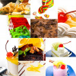 Dessert cake and sweets collection collage — Stock Photo #58869557