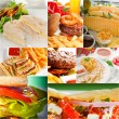 Burgers and sandwiches collection on a collage — Stock Photo #58900759