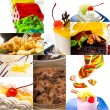 Dessert cake and sweets collection collage — Stock Photo #58900961