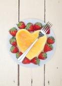 Heart cheesecake — Fotografia Stock