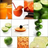 柑橘系の果物のコラージュ — ストック写真