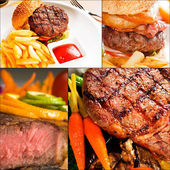 Beef dishes collage — Stock Photo