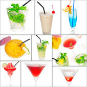 Cocktails collage — Stock Photo