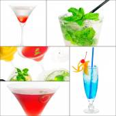 Cocktails collage — Stockfoto
