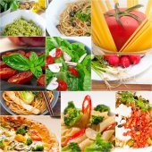 Healthy Vegetarian vegan food collage — ストック写真