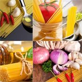Healthy Vegetarian vegan food collage — 图库照片