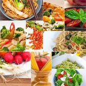 Healthy Vegetarian vegan food collage — Stock Photo