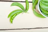 Hearthy fresh green peas  — Stock Photo