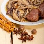 Venison deer game filet and wild mushrooms — Stock Photo #75016621
