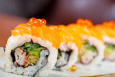 Fresh sushi choice combination assortment selection — Stock Photo