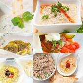 Middle east food collage — Stock Photo
