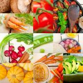 Hearthy vegetables collage composition — Stock Photo