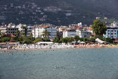 Alanya - the beach of Aladdin .  Alanya is one of most popular seaside resorts in Turkey — Stock Photo