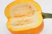 Fresh orange pumpkin isolated on white background — Stock Photo