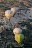Cappadocia, Turkey.The greatest tourist attraction of Cappadocia , the flight with the balloon at sunrise — Stock Photo