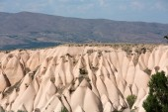 Volcanic rock landscape, Goreme, Cappadocia, Uchisar, Turkey — Stock Photo