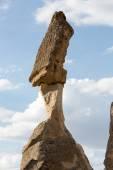 Rotsformaties in goreme nationaal park. Cappadocië, Turkije — Stockfoto