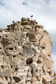 View of Uchisar castle in Cappadocia , Turkey — Stock Photo