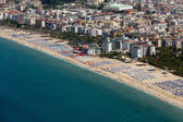 Alanya - the beach of Cleopatra .  Alanya is one of most popular seaside resorts in Turkey — Foto Stock