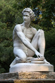 Paris - Luxembourg Gardens. Sculpture of Archidamas by Philippe Joseph Henri Lemaire — Stock Photo