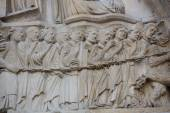 Paris - West facade of Notre Dame Cathedral. — Stock Photo