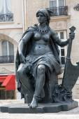 Paris - Statues of six continets in front of Orsay Museum — Photo