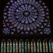 Paris, Notre Dame Cathedral. North transept rose window. The Glorification of the Virgin Mary — Stock Photo #57539647