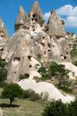 View of Uchisar castle in Cappadocia , Turke — Stock Photo