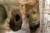 Derinkuyu underground city, Cappadocia in Central Anatolia, Turkey — Stock Photo