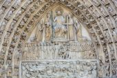 Paris - West facade of Notre Dame Cathedral — Stock Photo