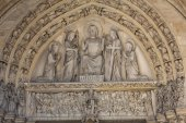 Paris - Last Judgment Tympanum of the Sainte Chapelle — Stock Photo