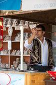 The speciality of Cappadocia ice-cream  from the goat's milk — Stock Photo