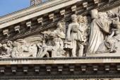 Paris - The pediment of Pantheon — Stock Photo