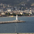 The view from the castle on the Ligthouse. Alanya, Turkey — Stock Photo #60944463