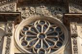 Church of Saint-Etienne-du-Mont in Paris near Pantheon. It contains shrine of St. Genevieve - patron saint of Paris — Stock Photo