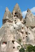 View of Uchisar castle in Cappadocia — Stock Photo