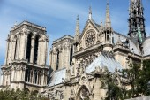 The cathedral of Notre Dame in Paris . France — Stock Photo