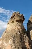Formations rocheuses dans le parc national de göreme. cappadoce, turquie — Photo