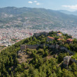 Alanya - the panoramic view of the city from the castle hill — Stock Photo #62257465