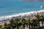 Alanya - the beach of Cleopatra . Alanya is one of most popular seaside resorts in Turkey — Stock Photo