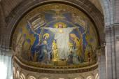 Interior view of Basilica of the Sacre Coeur on Montmartre, Paris, France — Stok fotoğraf