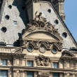 Paris -  Architectural fragments of Louvre building. Louvre Museum — ストック写真 #65313741