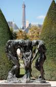 Paris - Museum Rodin. Sculpture of the Three Shades  inspired with Divine Comedy of Dante — Stock Photo