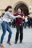 The international Flashmob day of rueda de Casino — Stock Photo