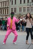 The international Flashmob day of rueda de Casino — 图库照片