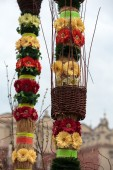 Cracow - easter sunday palm on the Main Square — Fotografia Stock